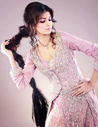 sarah salman winter fall wedding bridal dresses designs 2014 pink