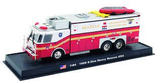 model semi trucks amazon com e one heavy rescue fire truck diecast 1 64 model
