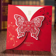 Wedding Invitation Greeting Cards Aliexpress Com Buy Luxurious Laser Cut Embossed Butterfly