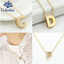 gold letter necklace pendants images Tiny gold initial alphabet a r necklace gold letter necklace jpg