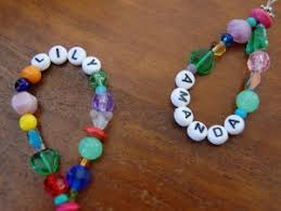 beaded name bracelets beaded name bracelets party craft or favor idea kids party
