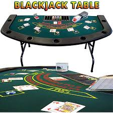 Black Jack Table by Trademark Poker 6 U0027 X 3 U0027 Full Size Folding Blackjack Table