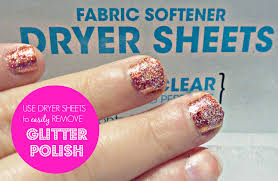 easily remove glitter nail polish