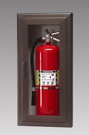 semi recessed fire extinguisher cabinet triangle fire inc fire extinguisher cabinets larsen s model