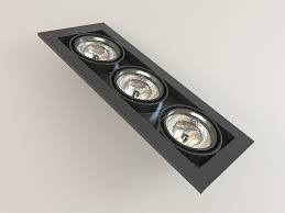 Spot Light Fixtures Best Recessed Multi Spot Light Fixture 3d Model 3ds Max Files Free