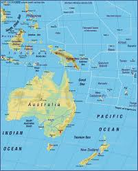 Seas Of The World Map map of australia pacific map of the world physical map in the