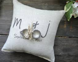 wedding pillow rings ring bearer pillow etsy