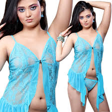 buy little india soft turquoise front open sleep wear nightwear