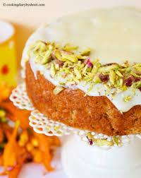 carrot cake with white chocolate ganache