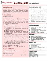 Real Estate Resumes Samples by Asset Management Resume Example Effective Resume Sample For Real
