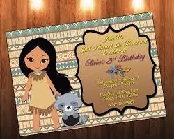 halloween themed birthday invitations pocahontas birthday disney princess pocahontas princess