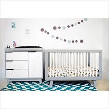 Babyletto Hudson Convertible Crib Babyletto Hudson 2 3 In 1 Convertible Crib Set In Grey White