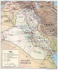 map of irak geography of iraq
