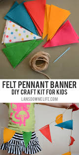 diy craft kits for felt pennant banner lansdowne