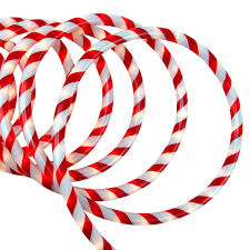 Christmas Yard Decorations On Ebay by Sienna 18 U0027 Red And White Candy Cane Indoor Outdoor Christmas Rope