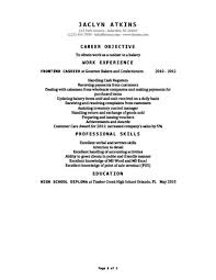 Cashier Example Resume cashier resume how to write 16 examples