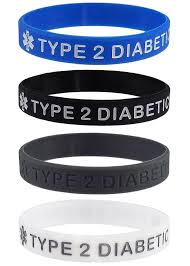 silicone bracelet black images Type 2 diabetic quot medical alert id silicone bracelet wristbands 4 jpg