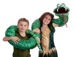 Snake Charmer Halloween Costume Big Fat Green Snake Arm Puppet Circus Hill Halloween Costumes