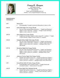 Sample Performance Resume by Download Dance Resume Haadyaooverbayresort Com