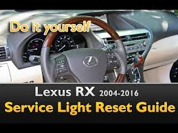 lexus vsc light reset lexus rx 2004 2016 service light reset guide youtube