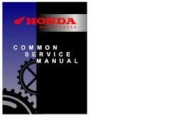 genuine honda common service manual
