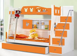 bedroom furniture chic and funny orange kids twin over bunk bed