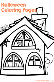 halloween coloring pages simple fun kids