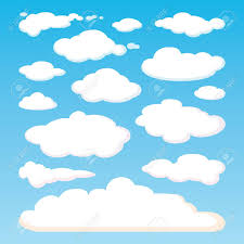 blue pattern background html pattern of white clouds isolated on blue sky background set