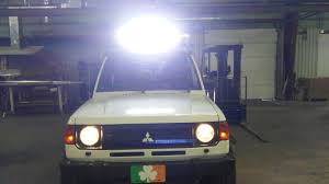 how to build led light bar led light bar on and wired up my 91 montero pajero build