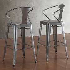 Chintaly Bar Stools Stackable Steel Bar Stools With Masculine Chintaly 8020 Bs Gun