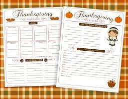thanksgiving dinner menu planner templates happy thanksgiving