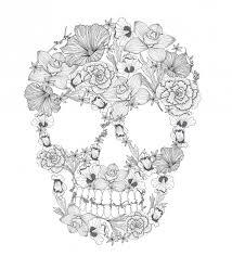 sugar skull coloring 1 sugar skulls sugaring tattoo