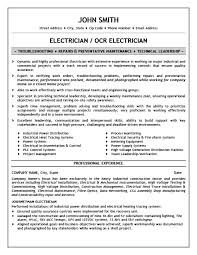 Sample Journeyman Electrician Resume by Industrial Electrician Resume Objective Best Journeymen