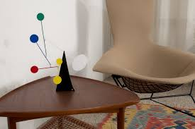 guitar pick side table by poul jensen for selig midmod decor