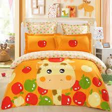 Giraffe Bedding Set Custom Orange Giraffeapple Bedding Sets Lbd12501 1 Jpg