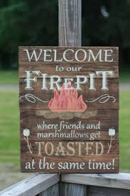 Personalized Fire Pit by Welcome To Our Firepit Personalized Firepit Sign Campfire Sign