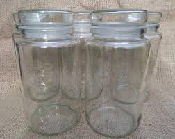 Glass Bathroom Storage Jars Glass Storage Jar Etsy