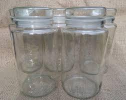 Bathroom Glass Storage Jars Glass Storage Jar Etsy