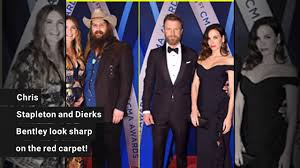 dierks bentley kids chris stapleton u0026 dierks bentley hit the red carpet at cma awards