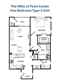 the villas at town center floor plans for each condo unit