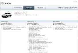 lexus rx 350 maintenance schedule how much did you pay for 30k service clublexus lexus forum