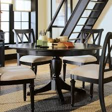 braden birch round dining kitchen table black brown 7 clean