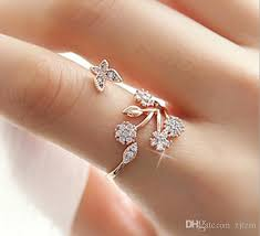valentines day ring butterfly leaf flower ring simple fresh gift giving valentines day