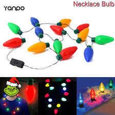 online shop 1x 5x 10x led candle lights christmas bulb necklace