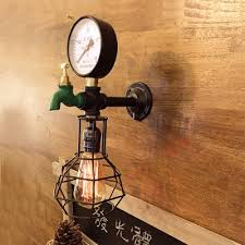 Industrial Wall Sconce Industrial Wall Sconce E27 Led Lighting Loft Tap Pipe Style With