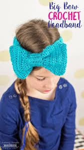 headband with bow big bow crochet headband scattered thoughts of a crafty by
