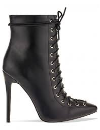 s heeled ankle boots uk wavy corset pointed stiletto heeled ankle boots in black pu lamoda