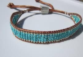 bracelet bead leather images Neta_porter bracelet turquoise and silver beaded leather bracelet jpg