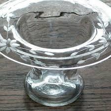 Engraved Glass Vases Shop Vintage Clear Glass Vase On Wanelo