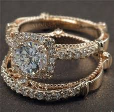 Rose Gold Wedding Ring Sets by K White Gold Diamond Wedding Rings Set For Him Mm And Her Mm In